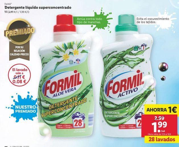 Oferta de Detergente líquido superconcentrado  Formil por 1,99€