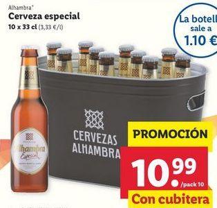 Oferta de Cerveza especial Alhambra por 10,99€