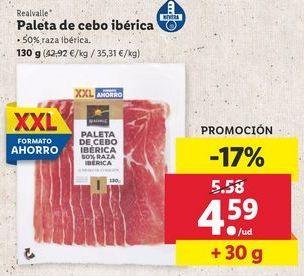 Oferta de Paleta ibérica de cebo Realvalle por 4,59€