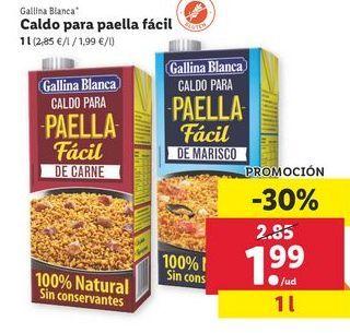 Oferta de Caldo de paella facil Gallina Blanca por 1,99€