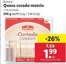 Oferta de Queso mezcla curado Roncero por 1,99€