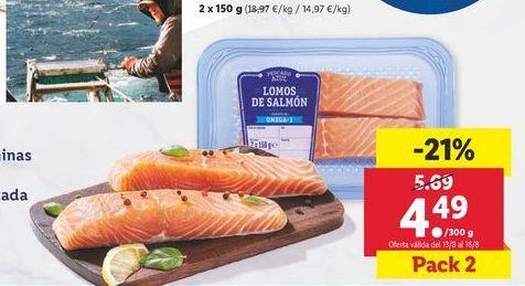 Oferta de Lomos de salmón por 4,49€