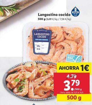 Oferta de Langostinos cocidos por 3,79€