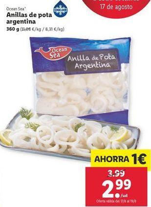 Oferta de Anillas de pota argentina ocean sea por 2,99€