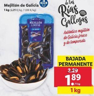Oferta de Mejillones de Galicia por 1,89€
