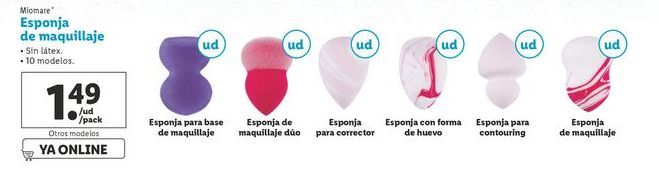 Oferta de Esponja de maquillaje Miomore por 1,49€