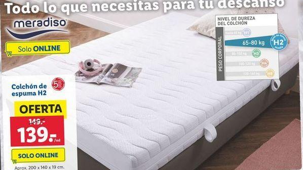 Oferta de Colchón de espuma Meradiso por 139€