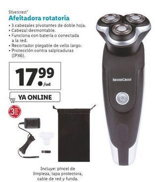 Oferta de Afeitadora rotatoria  SilverCrest por 17,99€