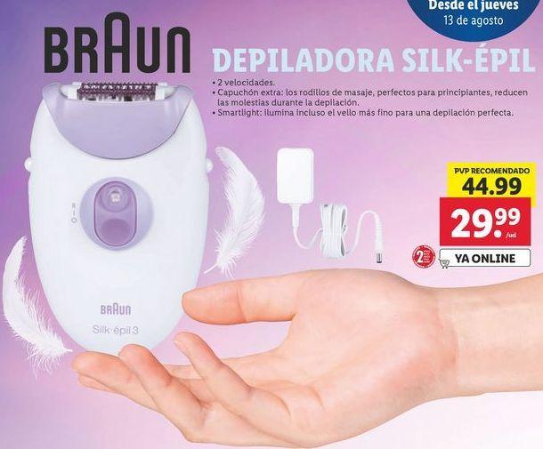 Oferta de Depiladora Braun por 29,99€