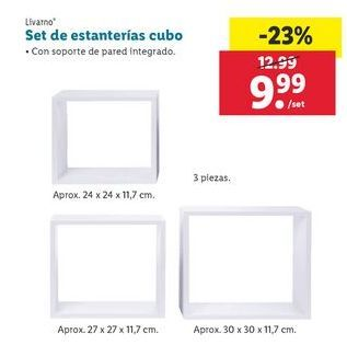Oferta de Set de estanterías cubo  Livarno por 9,99€