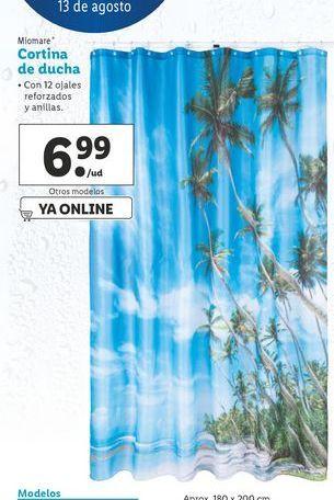 Oferta de Cortina de ducha Miomate por 6,99€