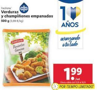 Oferta de Verduras y champiñones empanados Freshona por 1,99€