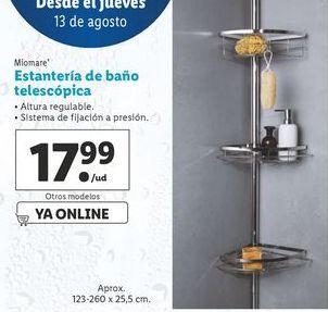 Oferta de Estantería de ducha telescópica miomare por 17,99€