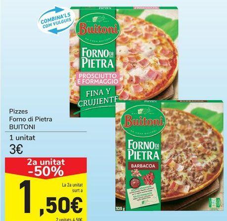 Oferta de Pizzas Forno di Pietra BUITONI  por 3€