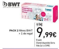 Oferta de Pack 2 filtros BWT + 1 de regalo  por 9,99€