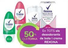 Oferta de En TODOS los desodorantes roll on y crema REXONA por