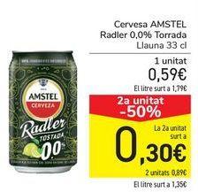 Oferta de Cerveza AMSTEL Radler 0,0% Tostadas  por 0,59€