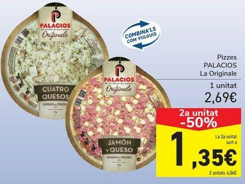 Oferta de Pizzas PALACIOS La Original  por 2,69€