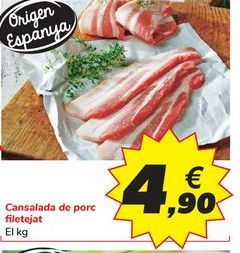 Oferta de Panceta de cerdo fileteada por 4,9€