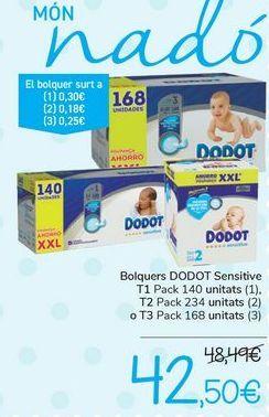Oferta de Pañales DODOT Sensitive por 42,5€