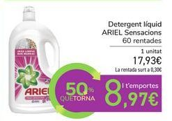Oferta de Detergente líquido ARIEL Sensaciones por 17,93€