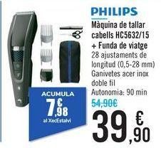 Oferta de Cortapelos HC5632/15 + Funda de viaje PHILIPS  por 39,9€