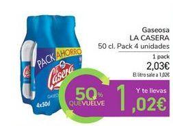 Oferta de Gaseosa LA CASERA por 2,03€