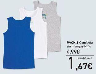 Oferta de PACK 3 camiseta sin mangas Niño  por 4,99€