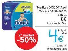 Oferta de Toallitas DODOT Azul  por 8€