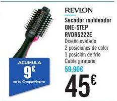 Oferta de Secador moldeador ONE-STEP RVDR5222E REVLON  por 45€