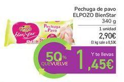 Oferta de Pechuga de pavo EL POZO BienStar por 2,9€