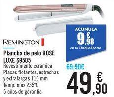 Oferta de Plancha de pelo ROSE LUXE S9505 REMINGTON por 49,9€