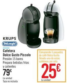 Oferta de Cafetera Dolce Gusto Piccolo KRUPS  por 79€
