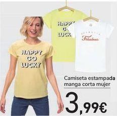 Oferta de Camiseta estampada manga corta mujer  por 3,99€
