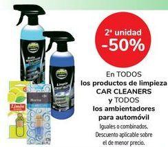 Oferta de En TODOS los productos de limpieza CAR CLEANERS y TODOS los ambientadores para automóvil, iguales o combinados  por