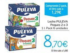 Oferta de Leche PULEVA Peques 2 o 3 por 8,7€