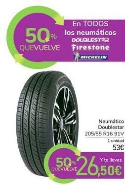 Oferta de En TODOS los neumáticos DOUBLESTAR FIRESTONE MICHELIN por 53€