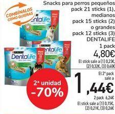 Oferta de Snack para perros pequeños, medianos o grandes DENTALIFE  por 4,8€