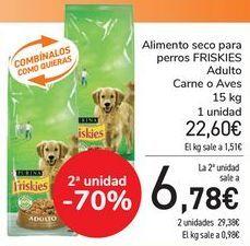 Oferta de Alimento seco para perros FRISKIES Adulto Carne o Aves  por 22,4€