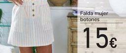 Oferta de Falda mujer botones  por 15€