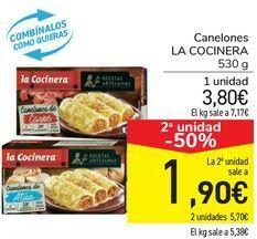 Oferta de Canelones La Cocinera por 3,8€