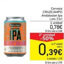 Oferta de Cerveza CRUZCAMPO Andalusian Ipa  por 0,78€