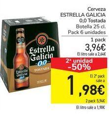 Oferta de Cerveza ESTRELLA GALICIA 0,0 Tostada por 3,96€