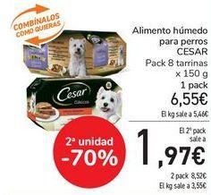 Oferta de Alimento húmedo para perros CESAR  por 6,45€