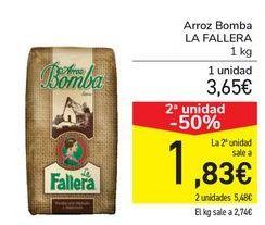 Oferta de Arroz bomba LA FALLERA por 3,65€