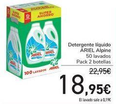 Oferta de Detergente líquido ARIEL Alpine  por 18,95€