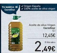 Oferta de Aceite de oliva Virgen Carrefour por 12,45€