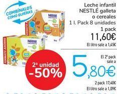 Oferta de Leche infantil NESTLÉ Galleta o cereales  por 11,6€