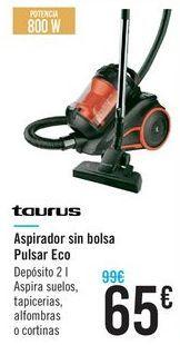 Oferta de Aspirador sin bolsa Pulsar Eco Taurus  por 65€