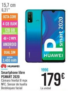 Oferta de Smartphone libre PSMART 2020 HUAWEI por 179€